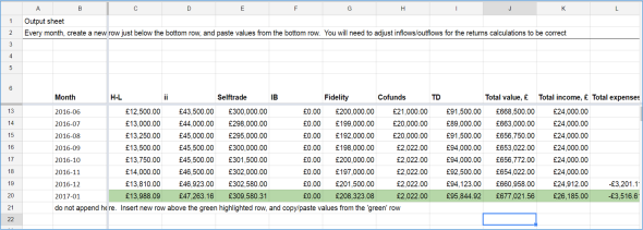 My investment tracking spreadsheet | FIRE v London